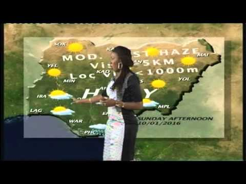 Weather Report For Cities In Nigeria 10th January, 2016
