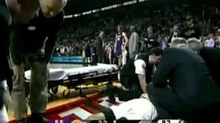Trevor Ariza golpea a Rudy Fernandez (09/03/2009)