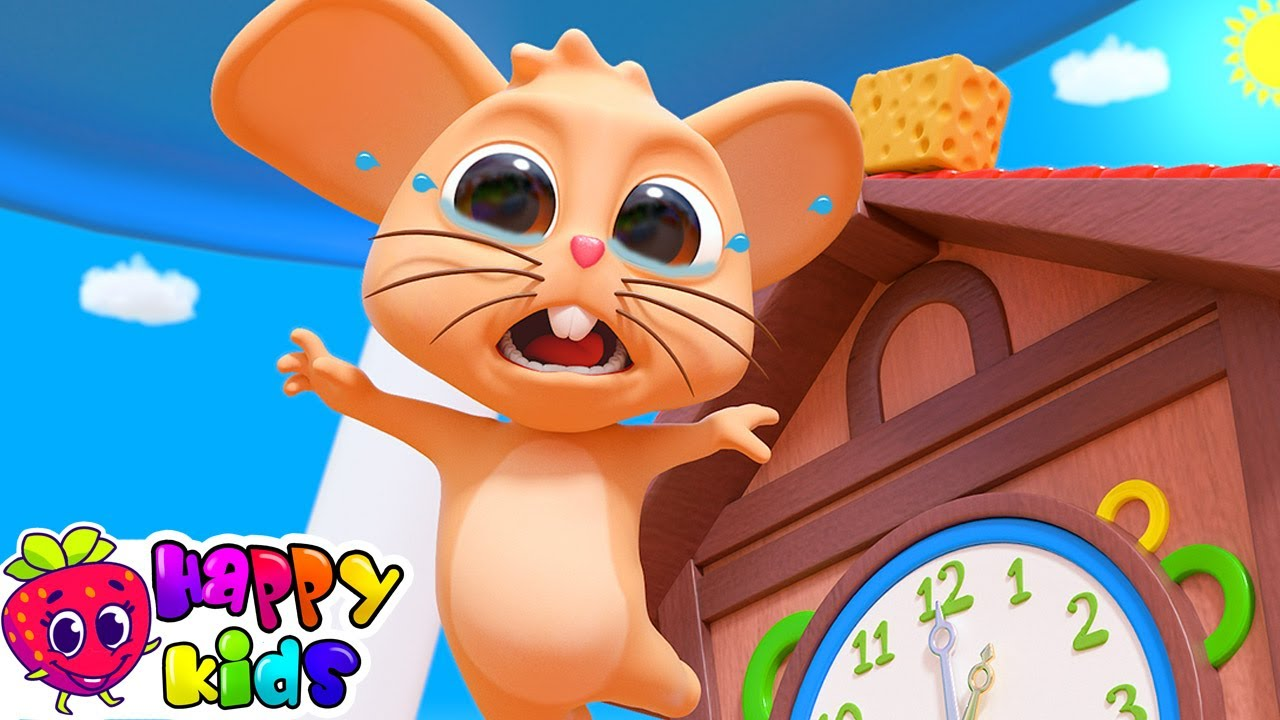 Hickory Dickory Dock Nursery Rhyme  Cartoon Animation Rhymes & Songs for Children