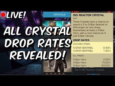 All Crystal Drop Rates Finally Revealed!! - Marvel Contest Of Champions