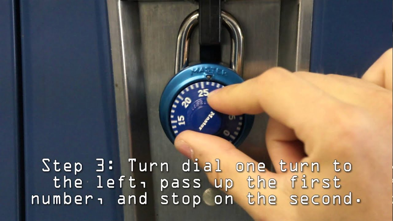 How To Open Abination Lock  Mcnabb Middle School