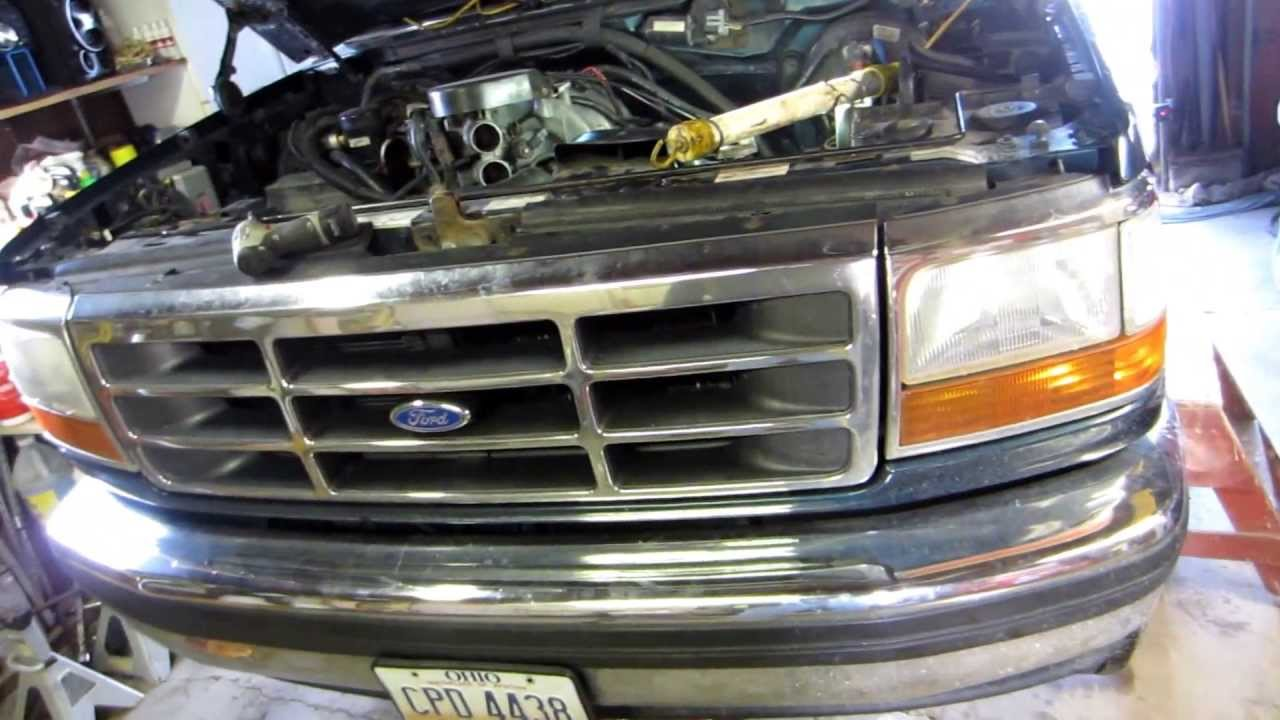 96 F150 Engine Diagram 95 F150 Shorty To Long Tube Header Swap Youtube