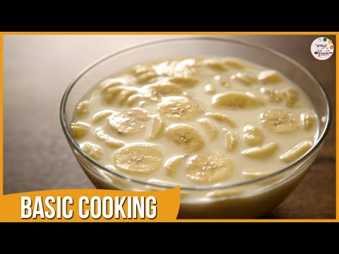 Kelyache Shikran | Banana & Milk | Quick Dessert | Recipe by Archana in Marathi | Basic Cooking