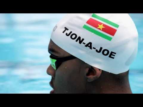 An Olympic swimmer from Suriname gets ready for Rio