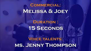 Jenny Thompson voice actor - Melissa & Joey commercial