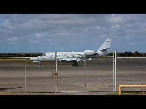 IAI Astra 1125 SPX N125GR y Bombardier Learjet 35 N92TS Aeropuerto de San Tomé Venezuela