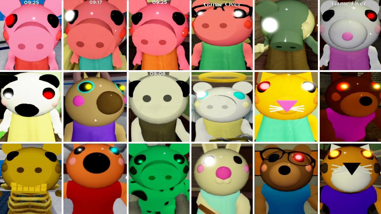Roblox Piggy All 18 Piggy Characters Youtube