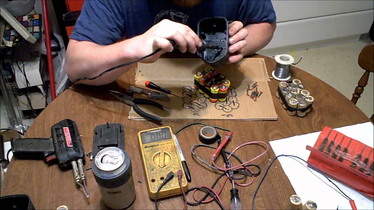 maxresdefault cordless drill battery pack rebuild for $20 or repair for $0 youtube Wiring-Diagram Electric Drill at gsmx.co
