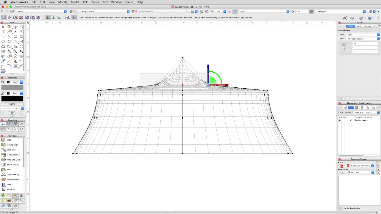 Freeform Modeling - Subision Tool - Tent Roof Continued  sc 1 st  YouTube & Freeform Modeling - Subision Tool - Tent Roof Continued - YouTube
