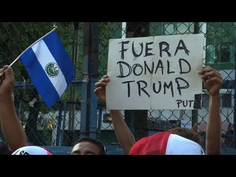 Migrants in Mexico protest against Trump at US embassy