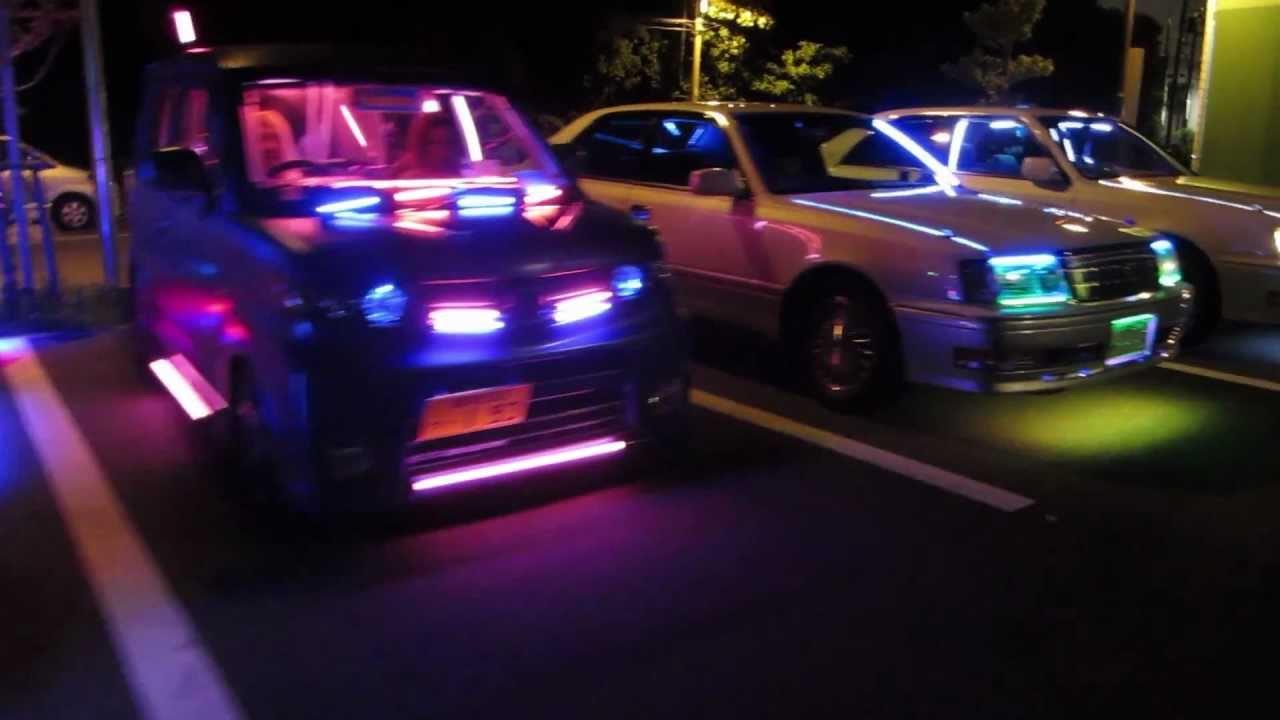 Hd Bright Light Japan Illumination Car 大黒pa 電飾 外向き 爆音