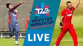 LIVE CRICKET - ICC Men's T20 World Cup Europe Final 2019 - Norway vs Denmark. Starts 10.45 BST