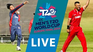 LIVE CRICKET - ICC Men's T20 World Cup Europe Final 2019 - Norway vs Denmark. Starts 10.45 BST