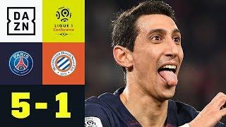 Angel Di Maria oder Leroy Sane? Hauptsache traumhaft: PSG - Montpellier 5:1 | Ligue 1 | DAZN