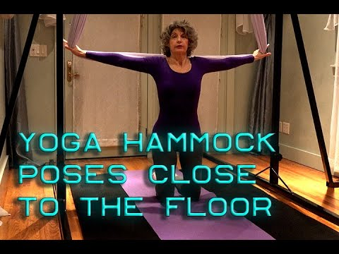 yoga hammock poses close to floor  youtube