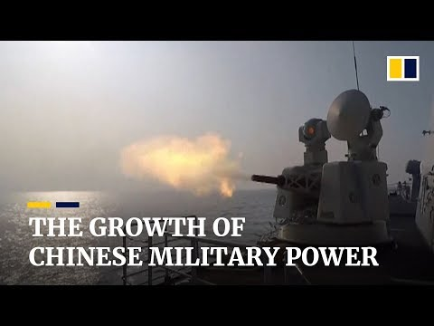 The growth of China's military power over the past 40 years