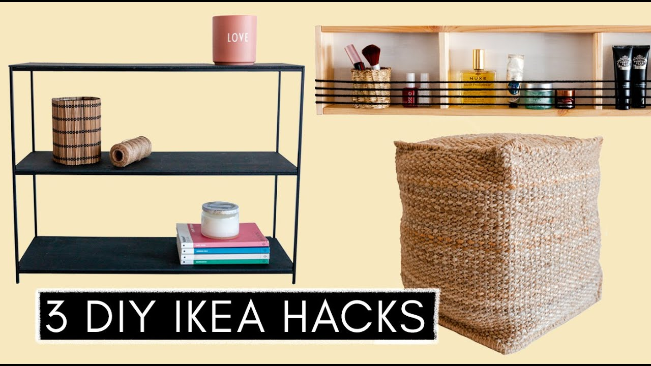 3 Diy Ikea Hacks Pouf Designer Regal Ordnung Im Badezimmer Youtube