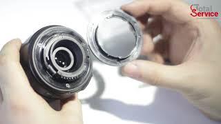 Ремонт фотоапаратів Nikon - заміна байонета в об'єктиві