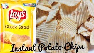 INSTANT POTATO WAFFERS/बिना धूप के बनायेंआलू चिप्स /BATATA WAFFERS-Tea Time Snacks