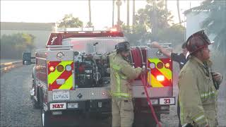 National City Firefighters Put Out Small Rubbish Fire Along Business 12/14/2017