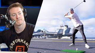 US Navy Sailor Reacts to Dude Perfect Aircraft Carrier Bucket List