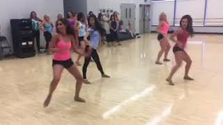Dance Team Performance Routine with Music (Front View)