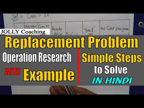 Replacement problem in operation research in hindi with solved numerical part 1 gradually replaceme