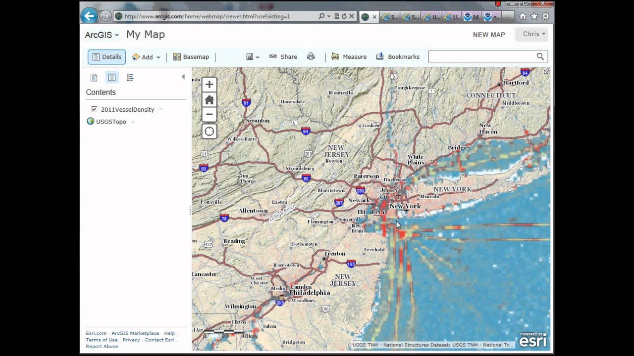 GIS Tutorial: Adding custom basemaps to ArcGIS Online, Data gov Web Map  Services