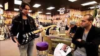 Joe Hottinger from Halestorm visits Norman's Rare Guitars