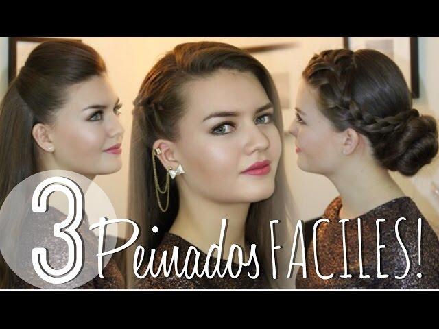 3 Peinados FACILES! con Ladygamez