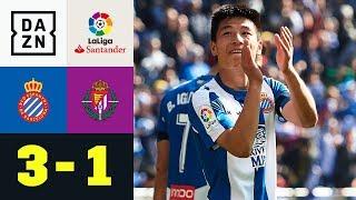 Wu Lei entfacht Hype: Espanyol Barcelona - Real Valladolid 3:1 | La Liga | DAZN Highlights