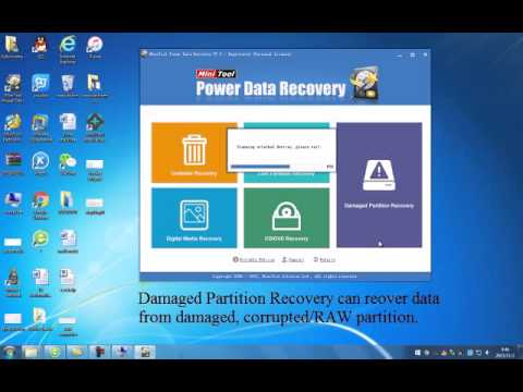 Damaged Partition Recovery Of MiniTool Power Data Recovery