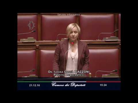 Ileana Piazzoni (Pd), Interrogazione a risposta immediata al Ministro Lorenzin