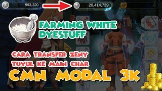 TIPS TRANSFER ZENY & FARMING WHITE DYESTUFF - RAGNAROK ETERNAL LOVE