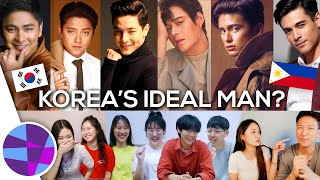 """Koreans React to Filipino Male Celebrities: Who is Korea's """"Ideal Man?"""" 