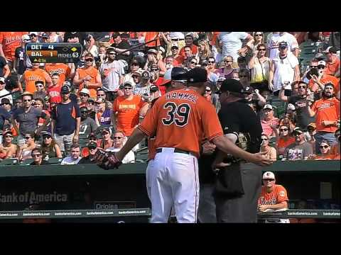 Tigers hit 3 homers and a grand slam in 4th, Jason Hammel ejected