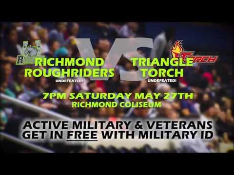 Triangle Torch (5-0) vs. Richmond Roughriders (6-0) (Saturday May 27th @ 7pm)