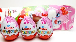 4x Kinder Surprise Eggs Easter Egg Box opening