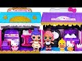 Hello Kitty Magic House Hair Salon & Dress shop toys! with Baby Shark and Baby doll #PinkyPopTOY