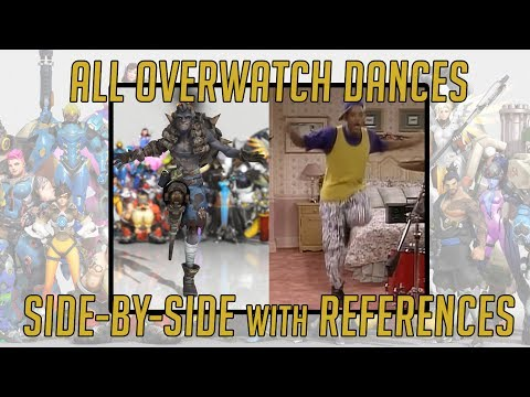 ALL OVERWATCH DANCES & REFERENCES | SIDE-BY-SIDE