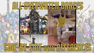 ALL OVERWATCH DANCES  REFERENCES  SIDE-BY-SIDE  Overwatch  TradeChat