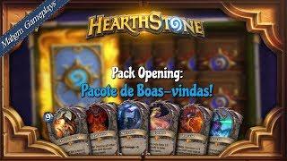 PACK OPENING HEARTHSTONE - PACOTE DE BOAS-VINDAS [DRAGÕES]