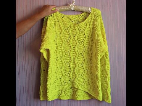 Cвязать свитер женский спицами схема молодежный 2015