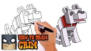 How to Draw Grim | The Diamond Minecart