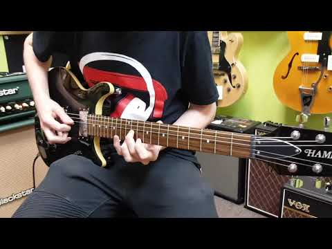 Hamer Sunburst Archtop Flame Top electric guitar demo at Basone Guitar Shop in Vancouver Canada