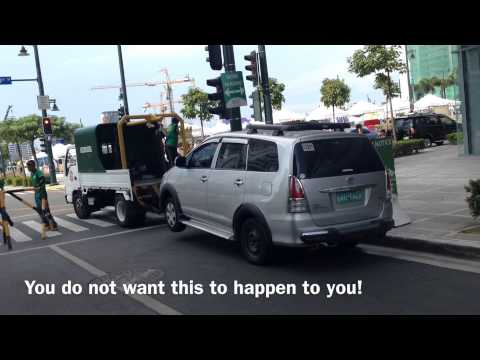 Bonifacio Global City Illegal Parking Towing by HourPhilippines.com