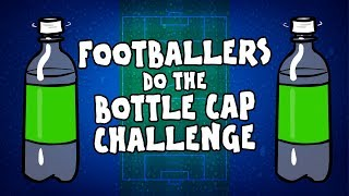⚽️FOOTBALLERS do the BOTTLE CAP CHALLENGE!⚽️ (Parody Feat. Ronaldo, Messi, Neymar and more!)
