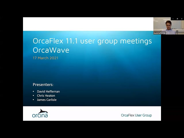 OrcaFlex 11.1 UGM - OrcaWave new features
