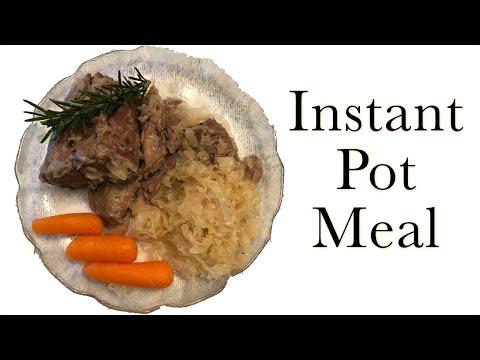 Instant Pot Pork Roast And Sauerkraut (quick & Easy)