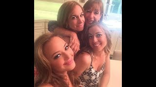 Leah Remini and her family (Vicki Marshall, Nicole, Shannon)